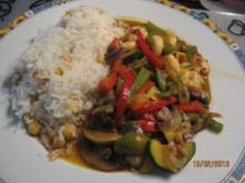 Gemüse-Wok mit Garnelen - Rezept