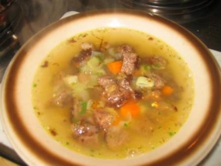 Suppe: Geröstetes Rindfleisch Süppchen! - Rezept