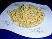 Nudeln tauchen in Tiefseegarnelen-Sahne-Ananas-Curry-Soße - Rezept