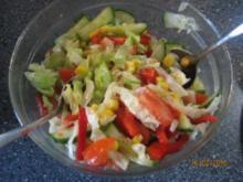 """gemischter Salat mit Limettensoße (""""Türkischeart"""" z.B. für  Lahmacun) - Rezept"""