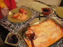 Huhn - Gebackene Enchiladas mit Huhn und Kaese  - Echt Amerikanisch mit Mexicanischen Geschmack- Ein gutes Familien Essen - Rezept