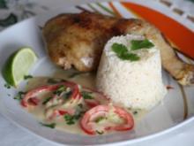 Hähnchen in Weißwein-Kokossoße - Rezept