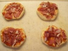 Aus dem Backofen kleine Pizza - Rezept