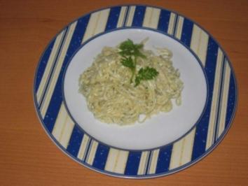 Linguine mit Dreikäsesauce - Rezept