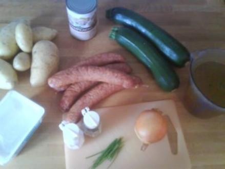 Kartoffel-Mettwurst-Pfanne - Rezept