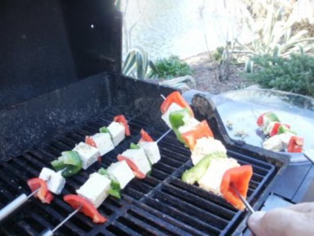 Grill -Tofu und Paprika mit Nuessen - 10 Minuten schnell - Grill  nach Geschmack - fettfrei - Rezept - Bild Nr. 3