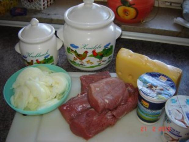 Fleisch : Überbackene Schweinelendchen - Rezept - Bild Nr. 2