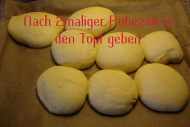"""Dampfnudeln oder auf Bayrisch """"Aufgangene"""" - Rezept - Bild Nr. 4"""