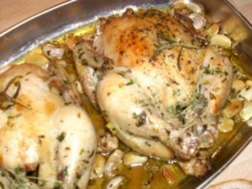 Knoblauch-Hähnchen - Rezept