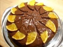 Schoko-Orangen-Torte - Rezept