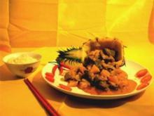 Schweinefleisch Süß-Sauer an Ananas - Rezept