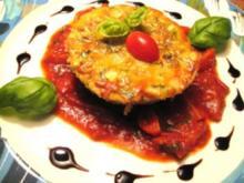 Getreide - Gemüseauflauf auf Tomatenconfit - Rezept