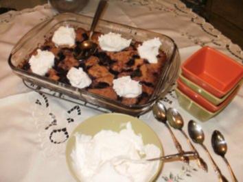 Brombeere Cobble mit Eierlikoer - Diese Beeren wachsen wild in Oregon und kosten nichts  - werden benutzt fuer alles - Rezept