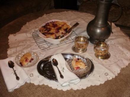 Pudding- Brot,Cranberries mit Orangen und Orangen Rum - Altes Brot mit was man im Haus und Garten hat - Rezept