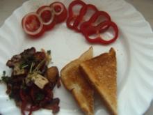 Champignon-Zwiebel-Paprika-Gemüse - Rezept