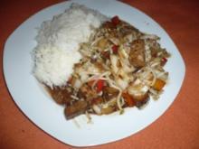 Gebratener Tofu mit Gemüse - Rezept