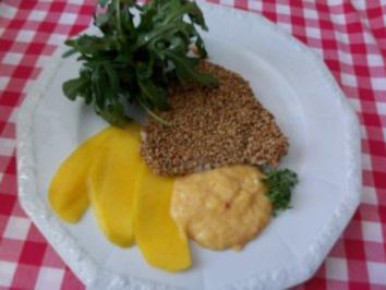 Thunfisch im Sesammantel mit Mango-Chili-Sauce - Rezept