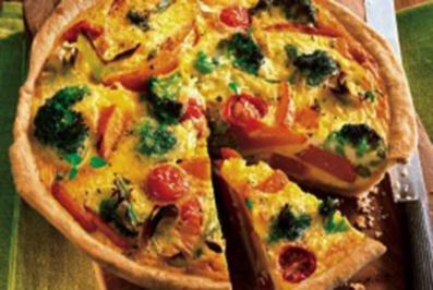 Rezept: Gemüse-Schmand Quiche