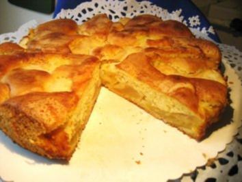 Rezept: Blitzkuchen mit Äpfeln...