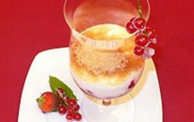 Versunkene Eisfrüchte unter brauner Decke - Rezept