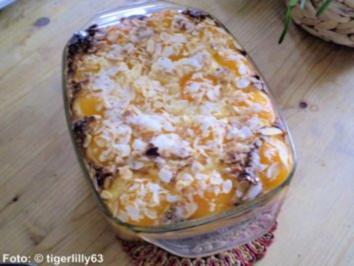 Aprikosen-Auflauf mit Mandelkruste - Rezept