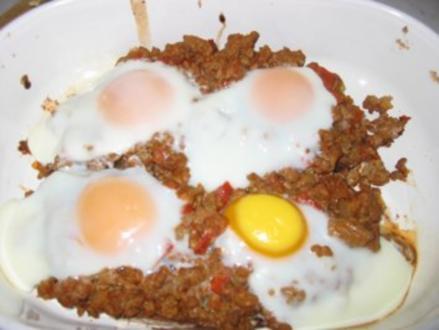 Eier mit Hackfleisch - Rezept