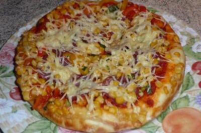 - Pizza mit viel Belag - Rezept