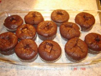 Schokoladenmuffins mit cremigem Nougatkern - Rezept