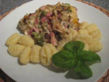 Ofenschnitzel mit Champignons & Speck - Rezept