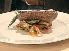 Ratatouillesalat mit Lammfilet - Rezept