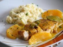 Hähnchenbrust mit scharfer Orangensoße und Gewürz-Couscous - Rezept