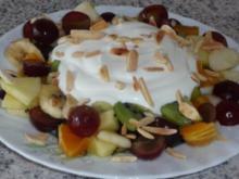 Dessert: Quarkspeise mit Obstsalat - Rezept