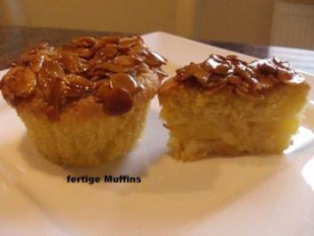 Muffin:   APFELMUFFIN ... unter Mandelhaube - Rezept