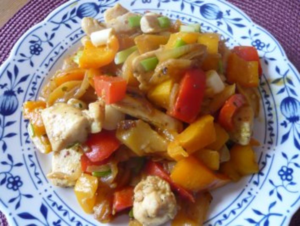 Bilder für Hähnchen-Curry mit Paprikaschoten - Rezept