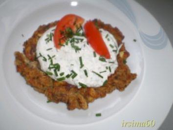 Rezept: Champignon - Puffer mit Kräuterquark