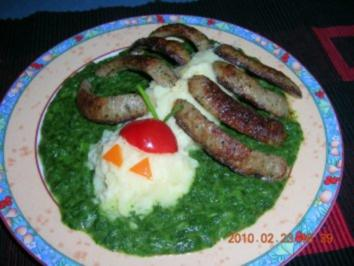 Spinne Thekla mit Bratwurst und Pürree - Rezept