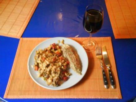 Fisch: Zanderfilet auf Ofengemüse - Rezept