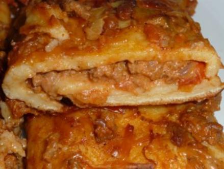 gefüllte Pfannkuchen überbacken - Rezept