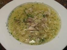 Suppe:   HÜHNERBRUEHE - Rezept