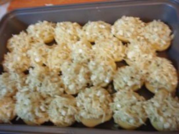 Beilagen: überbackene Kartoffeln - Rezept