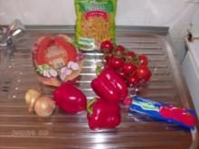 Fleischwurst und Nudeln ausm Wok - Rezept