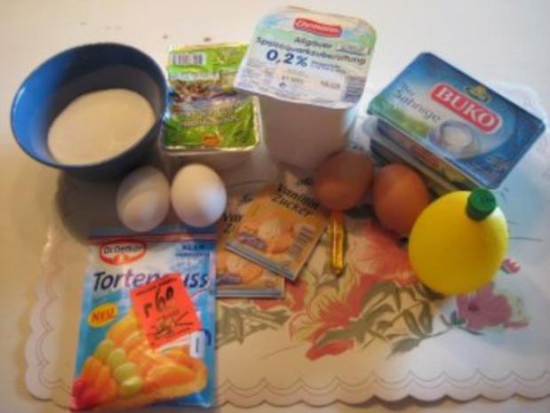 Quark - Frischkäse - Kuchen ohne Boden - Rezept - Bild Nr. 2