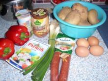 Kraut-Auflauf mit Cabanossi - Rezept