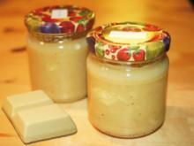 Bananenmarmelade mit weißer Schokolade - Rezept