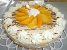 Pfirsich-Joghurt Torte mit Sekt - Rezept