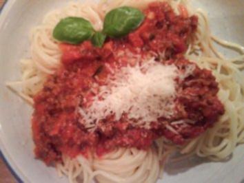 Heute gabs Spaghetti Bolognese - Rezept