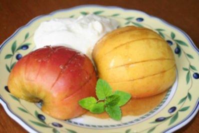 Rezept: Karamell-Äpfel mit Mascarponecreme