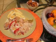 Huhn- Huehnerfleisch mit Ananas ueber Reis - 330 Kal. Fettarm - Ein gutes Familien Essen - Rezept
