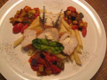 Gefüllte Hähnchenbrust mit Feta - Rezept