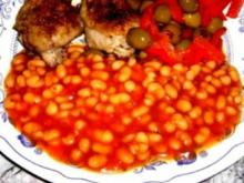 Weiße Bohnen in Tomatensauce - Rezept